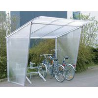 Wanden voor fietsenafdak met hellend dak - Linkerzijkant