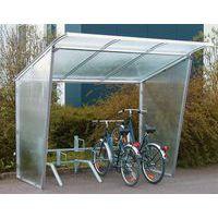 Fietsenstalling met schuin dak met fietsenrek - Basismodule
