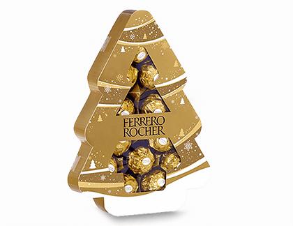 Un délicieux sapin de Noël gratuit Ferrero Rocher !