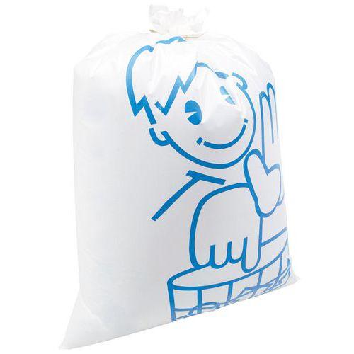 Sac-poubelle blanc Otje - Épais et réutilisable - Déchet lourd -110 et 168 L