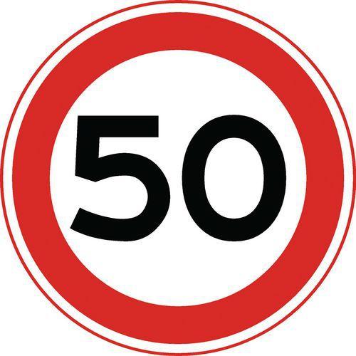 panneau de signalisation a1 vitesse limit e 50 km h. Black Bedroom Furniture Sets. Home Design Ideas