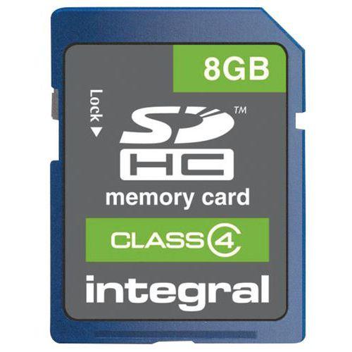 Geheugenkaart Integral SDHC- klasse 4