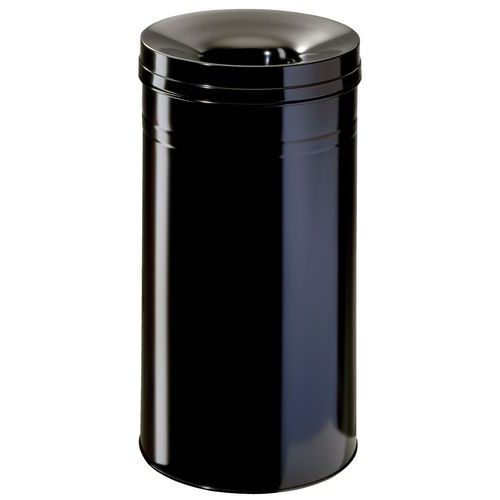 Stalen prullenbak met vlamdover - 60 L