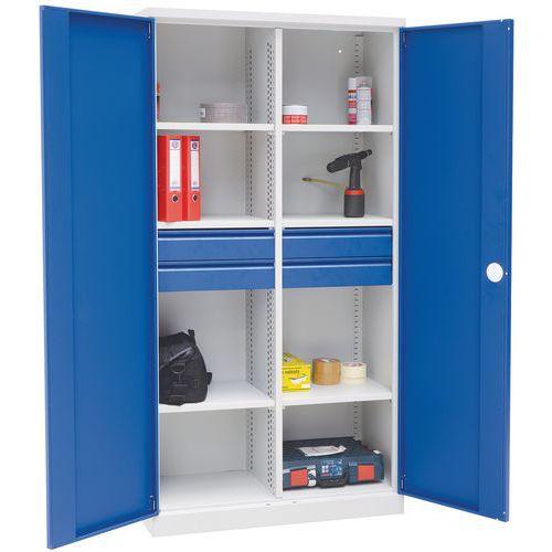 armoire d 39 atelier haute magic avec cloison interm diaire. Black Bedroom Furniture Sets. Home Design Ideas