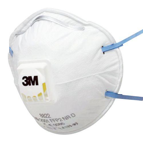 Halfgelaatsmasker voor eenmalig gebruik serie 8000 - FFP2