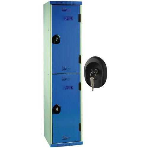 Vestiaire 2 cases Seamline Optimum® - Colonne largeur 300 mm - Acial