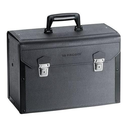 Leren koffer met laden