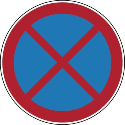 Verbodsbord - Verboden stil te staan of te parkeren - Hard