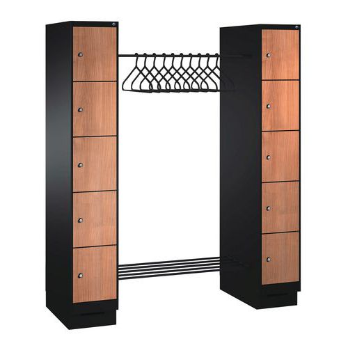 vestiaire 6 10 cases bois penderie penderie largeur. Black Bedroom Furniture Sets. Home Design Ideas