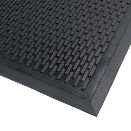 tapis d 39 entr e ext rieur en caoutchouc surface stri. Black Bedroom Furniture Sets. Home Design Ideas