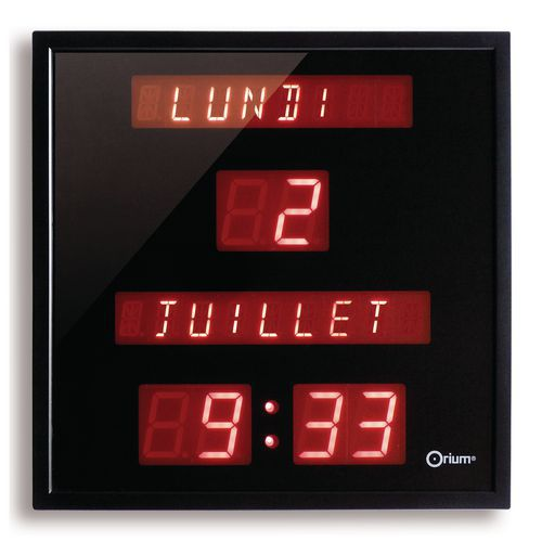 Digitale klok met datum - Horloge murale design pas cher ...