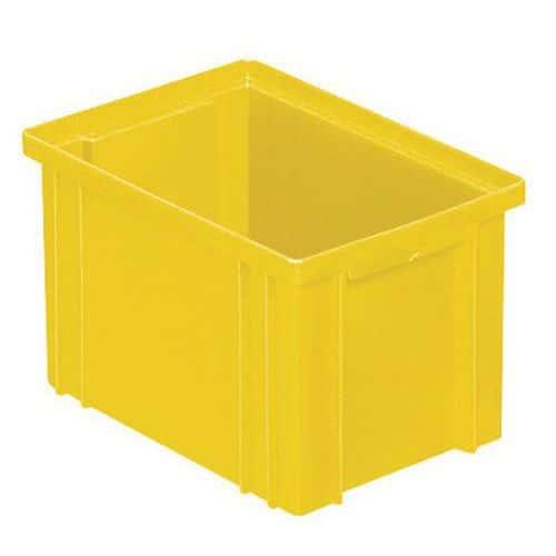 Stapelbare bak - geel - lengte 200 tot 630 mm - 3,6 tot 85 liter