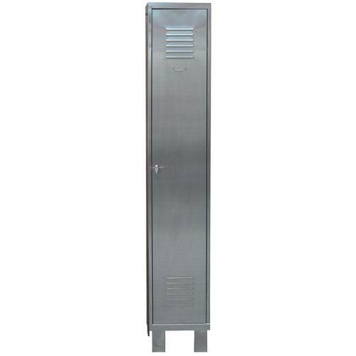 Vestiaire inox 1 à 3 colonnes - Industrie propre - Sur pieds