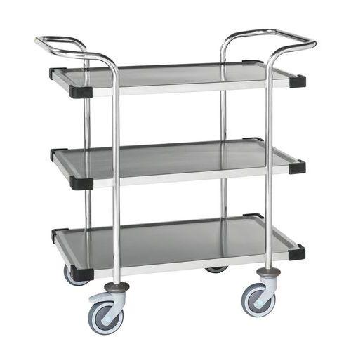 RVS trolley met 3 plateaus KM60365 - Kongamek