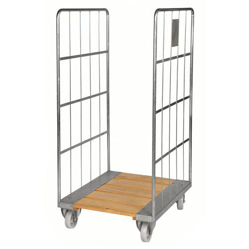 Rolcontainer houten vloer 2 zijden KM84 - Kongamek
