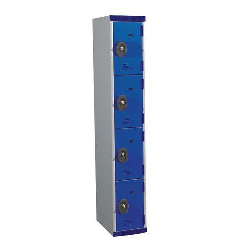 Vestiaire 4 cases Seamline Optimum® - Colonne largeur 300 mm - Acial