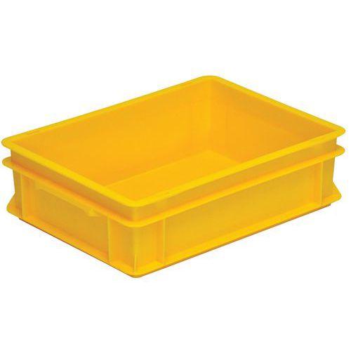 Stapelbare Euronorm-bak geel Rako - 10 tot 42l