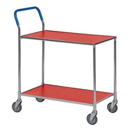 Tafelwagen klein met 2 houten plateaus - Draagvermogen 150kg