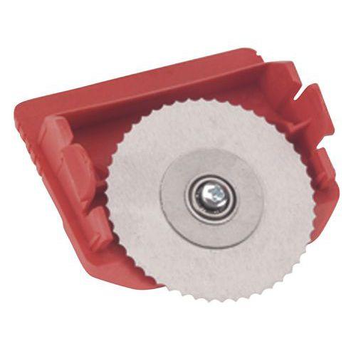 Cassette en snijmes voor horizontaal snijapparaat