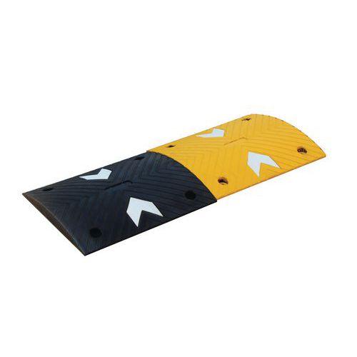Verkeersdrempelmodules, zwart met geel - 20 t