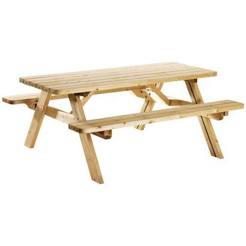 Opklapbare, ecologische picknicktafel - Naaldhout