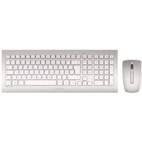 Set van toetsenbord en muis Cherry DW 8000 zilverkleurig qwerty