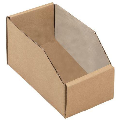 Bacs à bec carton kraft brun - Longueur 200 mm
