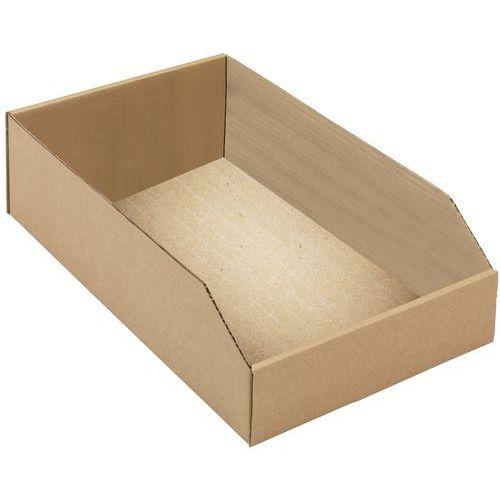 Bacs à bec carton kraft brun - Longueur 400 mm