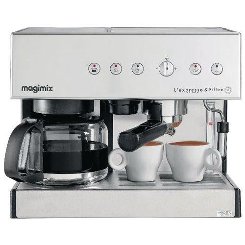 Combinatiekoffiezetapparaat Magimix espresso en automatisch filter
