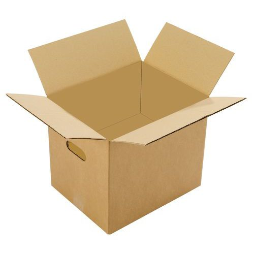 caisse de d m nagement simple cannelure poign e. Black Bedroom Furniture Sets. Home Design Ideas
