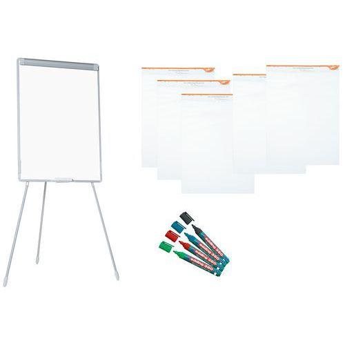 Flipover set: flipover, papier en markers - Manutan