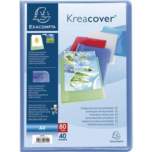 Protège document semi rigide Kreacover A4 80 vues - Lot de 10