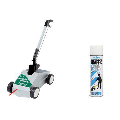 Markeerapparaat Perfekt Striper® + 1 spuitbus Traffic Extra wit - Ampère