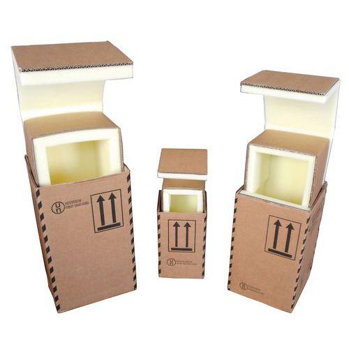 Kartonnen verzenddoos Sécuripack - Schuimrubberen binnenzijde