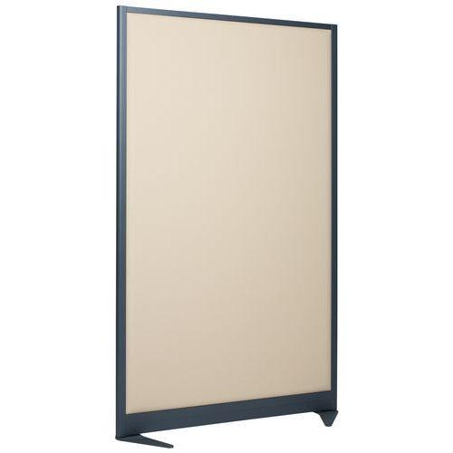 Geluidswerende scheidingswand 170x120 cm - grijs frame