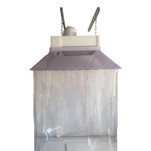 Hotte d'aspiration suspendue avec kit lanières PVC