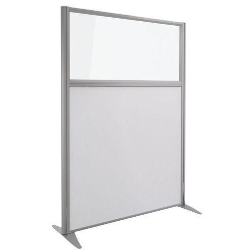 Akoestische scheidingswand Kprim - Stof met glas - Hoogte 165 cm