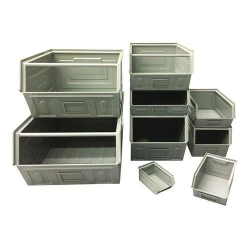 Bac à bec métallique - Modèle laqué gris - Longueur 500 à 700 mm