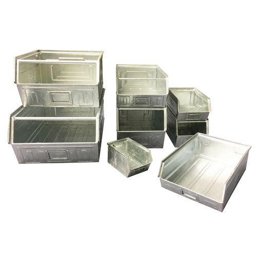 Bac à bec métallique - Modèle zingué - Longueur 500 à 700 mm