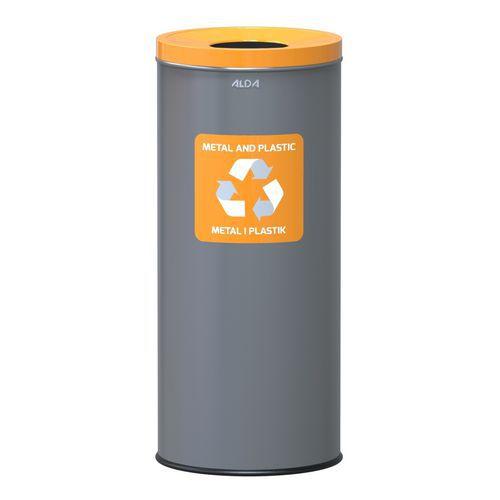 Metalen afvalbak voor binnen Prestige EKO voor recycling 45l