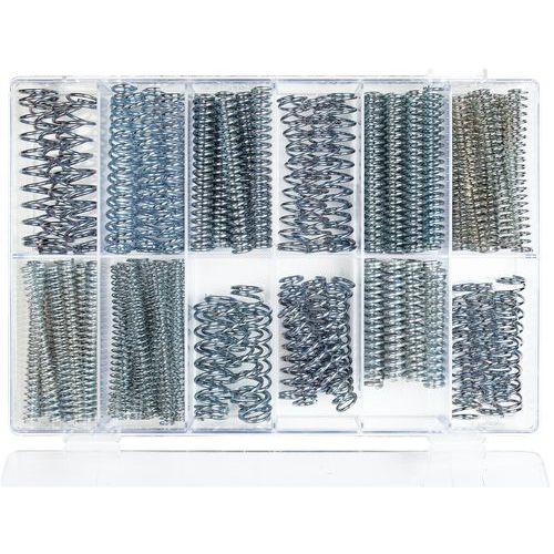 Assortimentsdoos met drukveren - Lengte 75 tot 100 mm - 121 stuks
