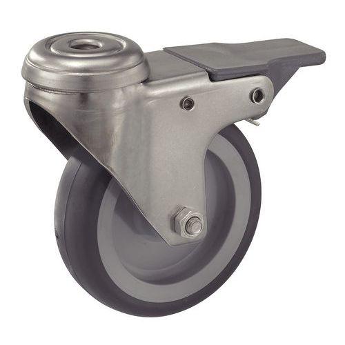 roulette avec frein en acier inoxydable force 50 75 kg. Black Bedroom Furniture Sets. Home Design Ideas