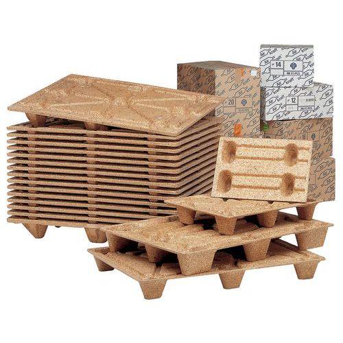 Pallet van houtvezel - Breedte 600 mm
