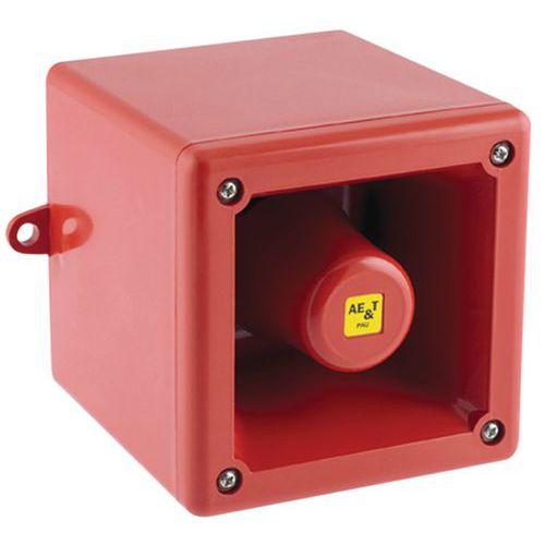 Elektronische sirene 100 en 105 dB 24 V en 230 V