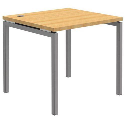 bureau droit open h tre aluminium pi tement ajustable. Black Bedroom Furniture Sets. Home Design Ideas