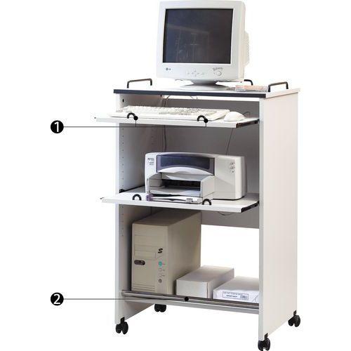 Computermeubel Met Rolluik.Verrijdbaar Computermeubel Manutan