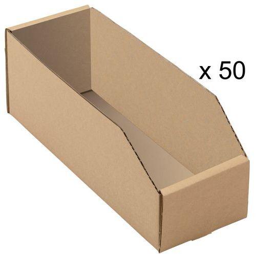 Bacs à bec carton kraft brun - Longueur 300 mm