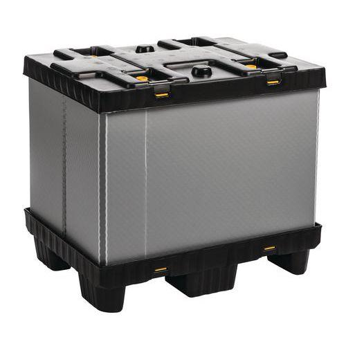 Caisse-palette pliable Mega Pack - Parois pleines
