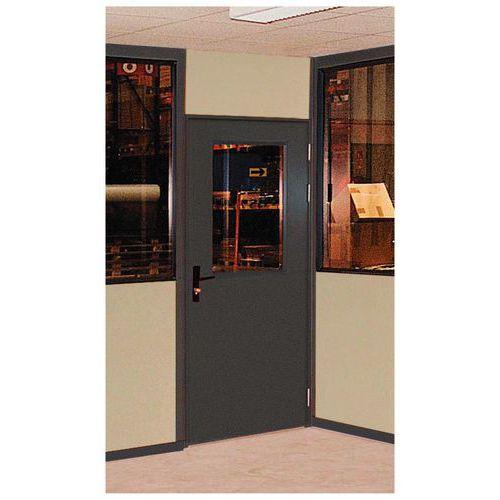 porte battante pour cloisons d 39 atelier t le d 39 acier ou m lamin. Black Bedroom Furniture Sets. Home Design Ideas