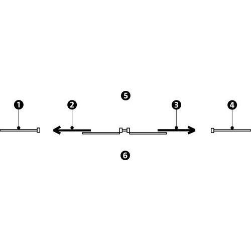 Schuifdeur voor scheidingswand in melamine - Dicht paneel - Hoogte 3.01 m